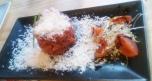 Arroz rojo con queso parmesano