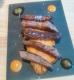 Tiras ibéricas sobre batata dulce