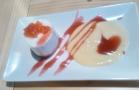 Tarta de queso con dulce de tomate