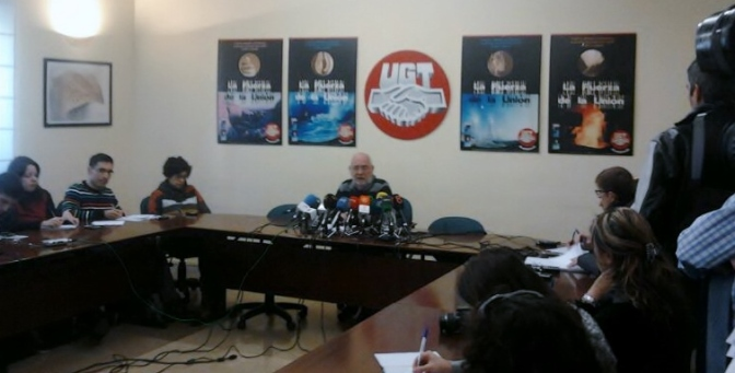 rueda de prensa UGT Andalucía
