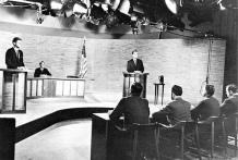 Debate en TV de Kennedy vs. Nixon. 1960